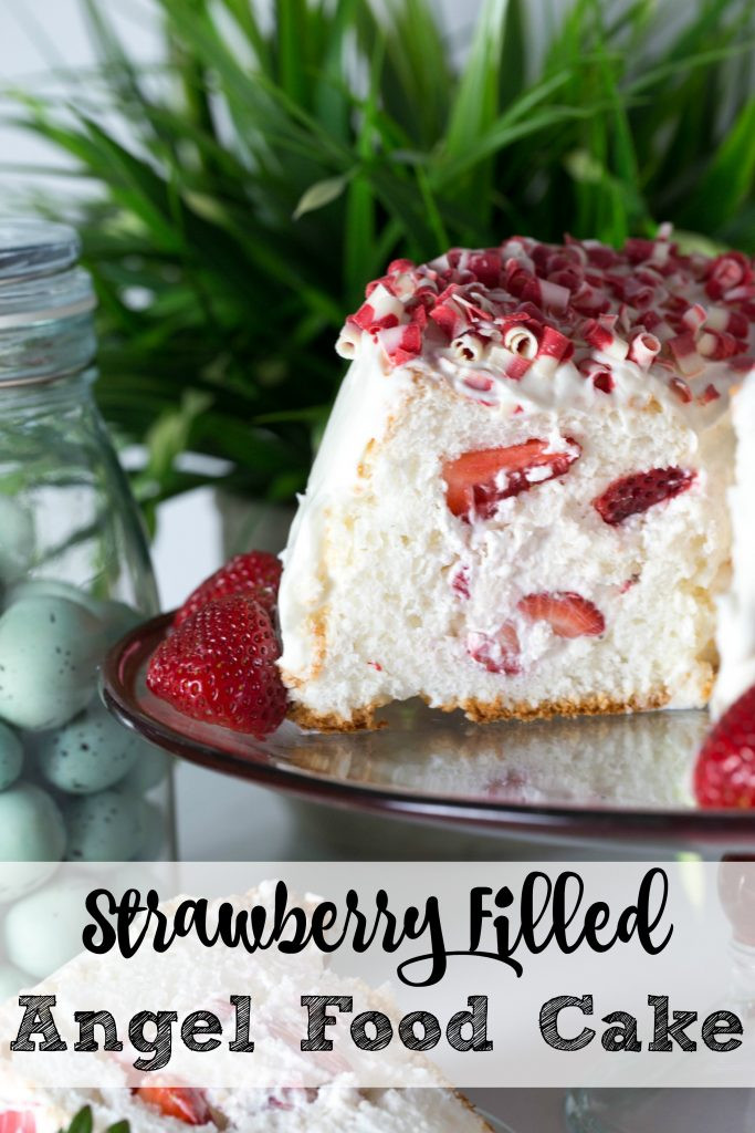 Easy Angel Food Cake Recipe  Strawberry Filled Angel Food Cake Recipe TGIF This