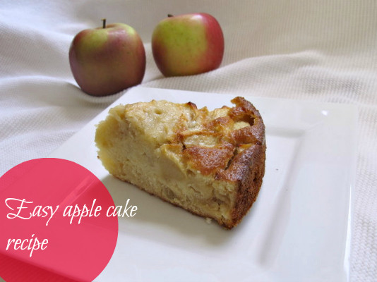 Easy Apple Cake Recipe  Easy apple cake recipe with only 4 ingre nts Makeup