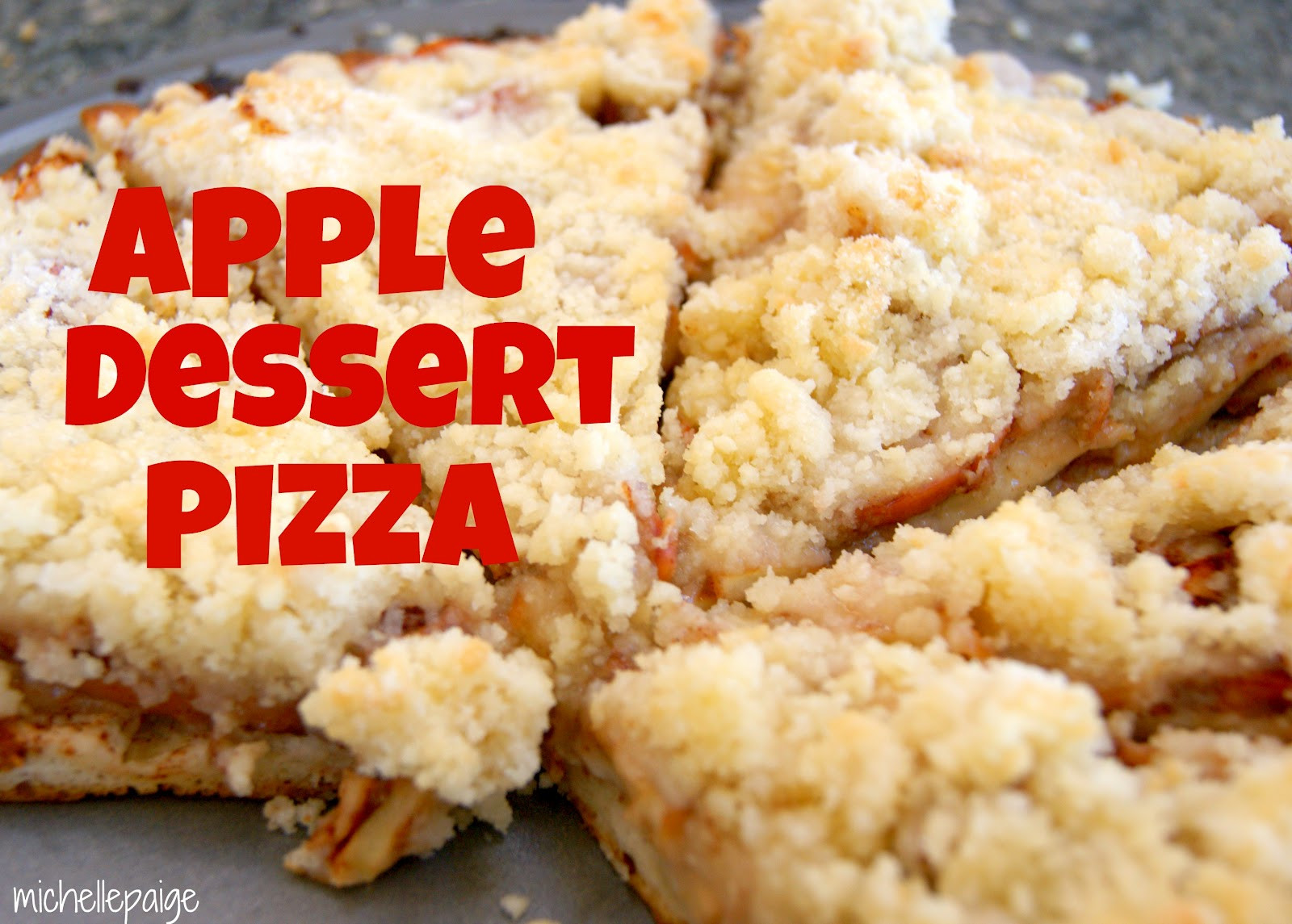 Easy Apple Dessert  michelle paige blogs Easy Apple Dessert Pizza