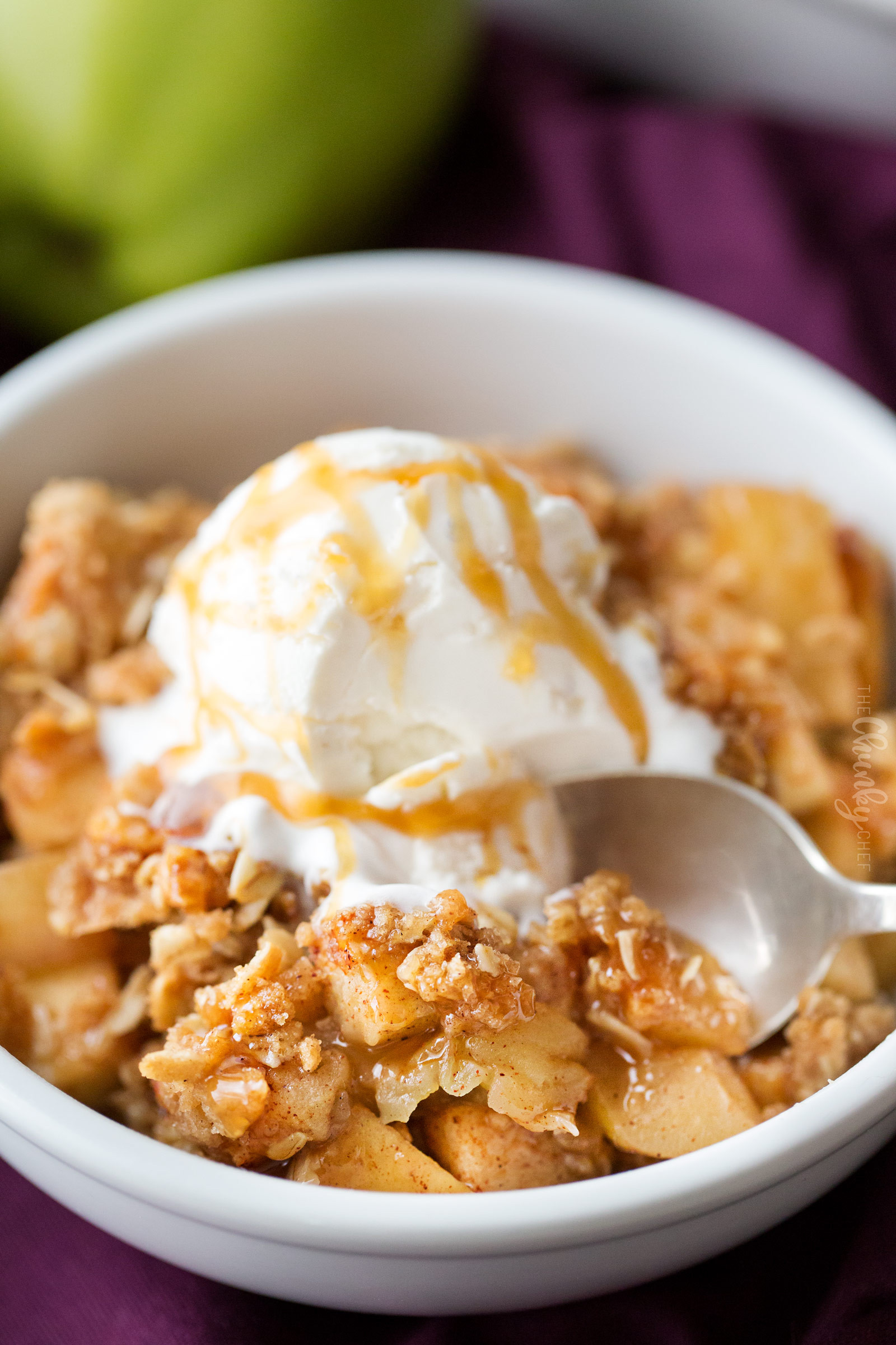 Easy Apple Dessert  Old Fashioned Easy Apple Crisp The Chunky Chef
