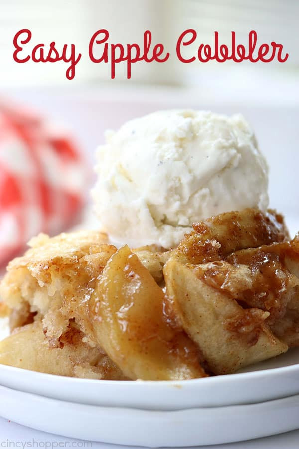 Easy Apple Dessert Recipes With Few Ingredients  Apple Cobbler CincyShopper