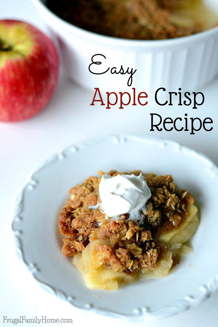 Easy Apple Dessert Recipes With Fresh Apples  Delicious and Easy Apple Crisp Recipe
