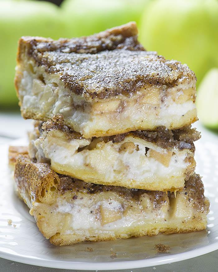 Easy Apple Dessert Recipes With Fresh Apples  Easy Apple Cheesecake Bars