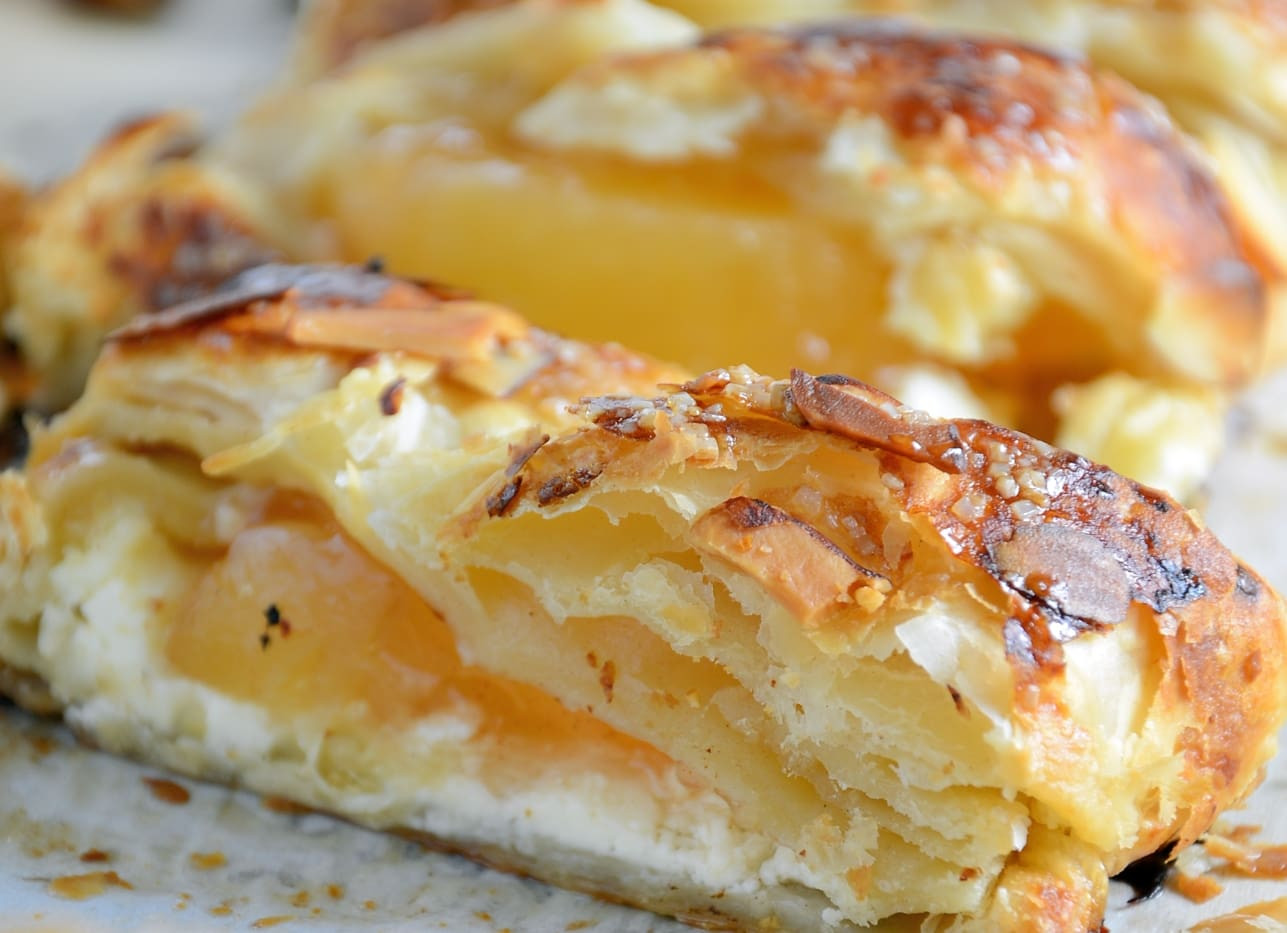 Easy Apple Desserts  Easy Apple Cream Cheese Strudel Savory Experiments