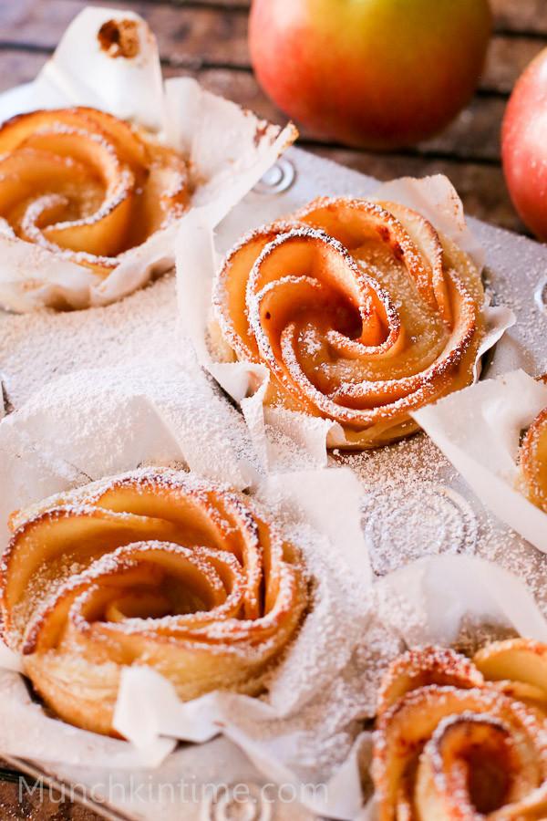 Easy Apple Desserts  Super Easy Apple Roses Dessert Recipe Munchkin Time