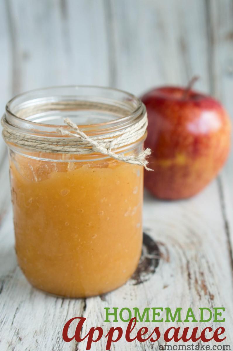 Easy Applesauce Recipe  Easy Homemade Applesauce Recipe A Mom s Take