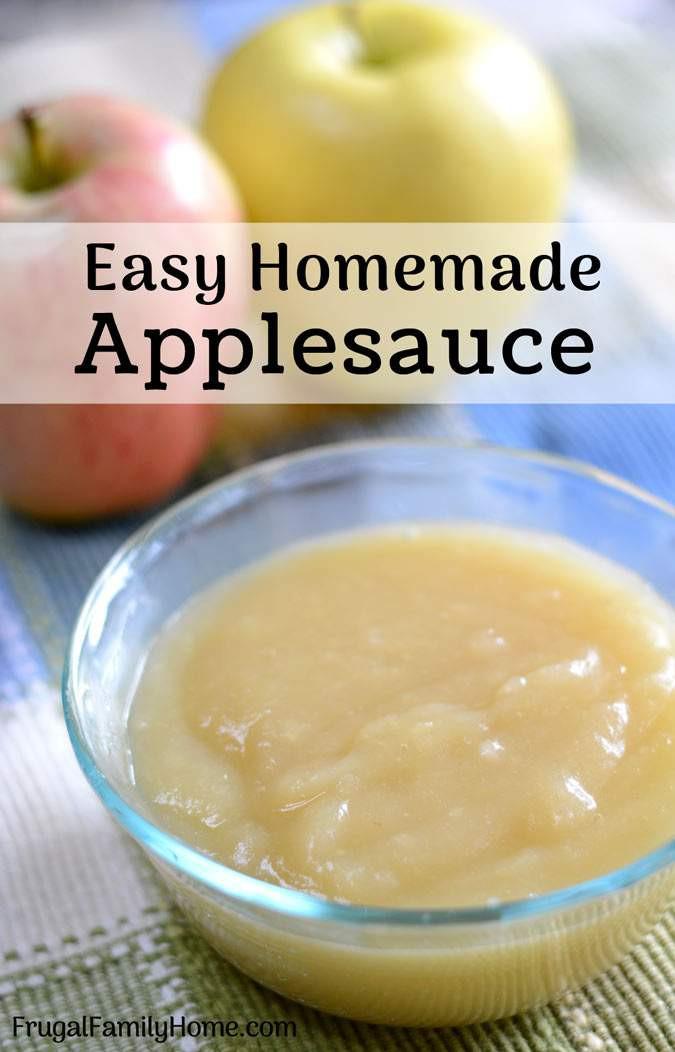 Easy Applesauce Recipe  How to Make Homemade Applesauce Easy Recipe