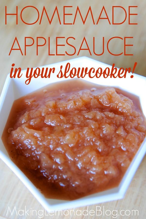 Easy Applesauce Recipe  Easy Homemade Applesauce Recipe in your Slowcooker
