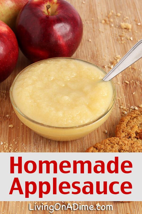 Easy Applesauce Recipe  Easy Homemade Applesauce Recipe Living on a Dime