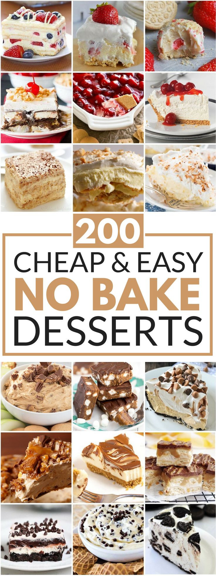 Easy Bake Desserts  25 best ideas about Easy cheap desserts on Pinterest