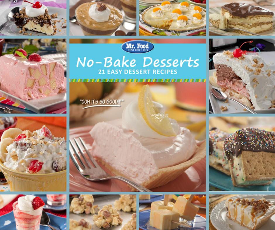 Easy Bake Desserts  No Bake Desserts Free eCookbook