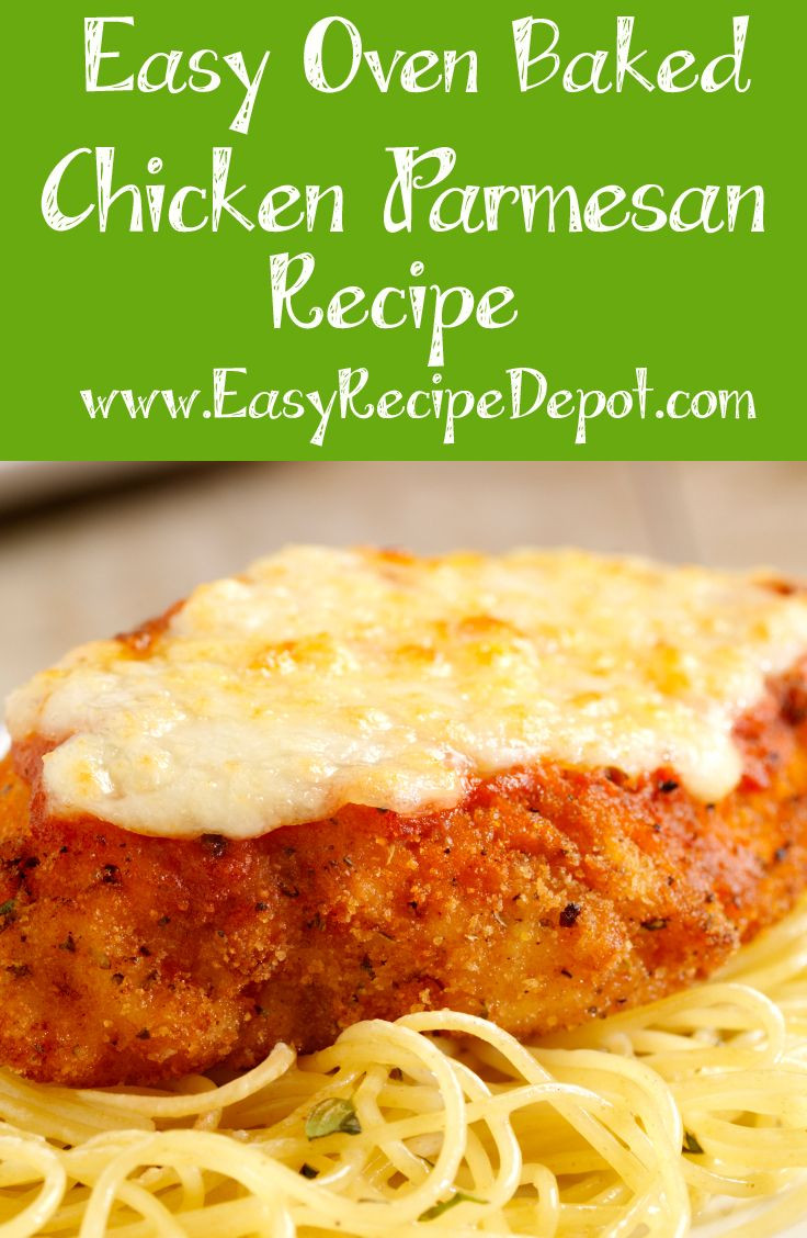 Easy Baked Chicken Parmesan  Easy Oven Baked Chicken Parmesan Opskrift