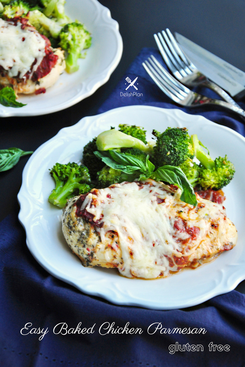 Easy Baked Chicken Parmesan  Easy Baked Chicken Parmesan Gluten Free StreetSmart