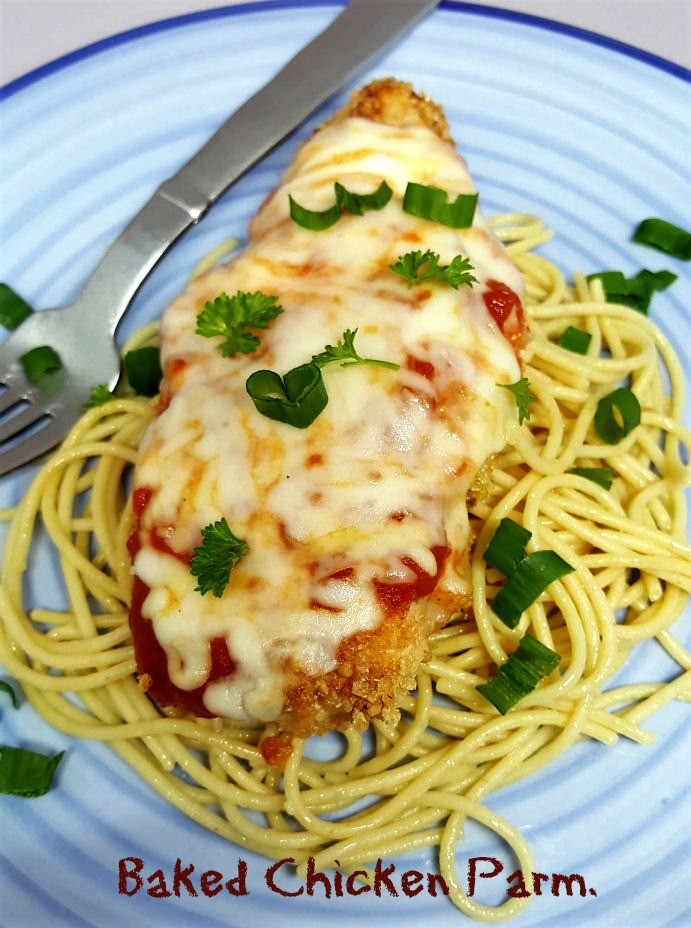 Easy Baked Chicken Parmesan  easy baked chicken parmesan The Big Apple Mama