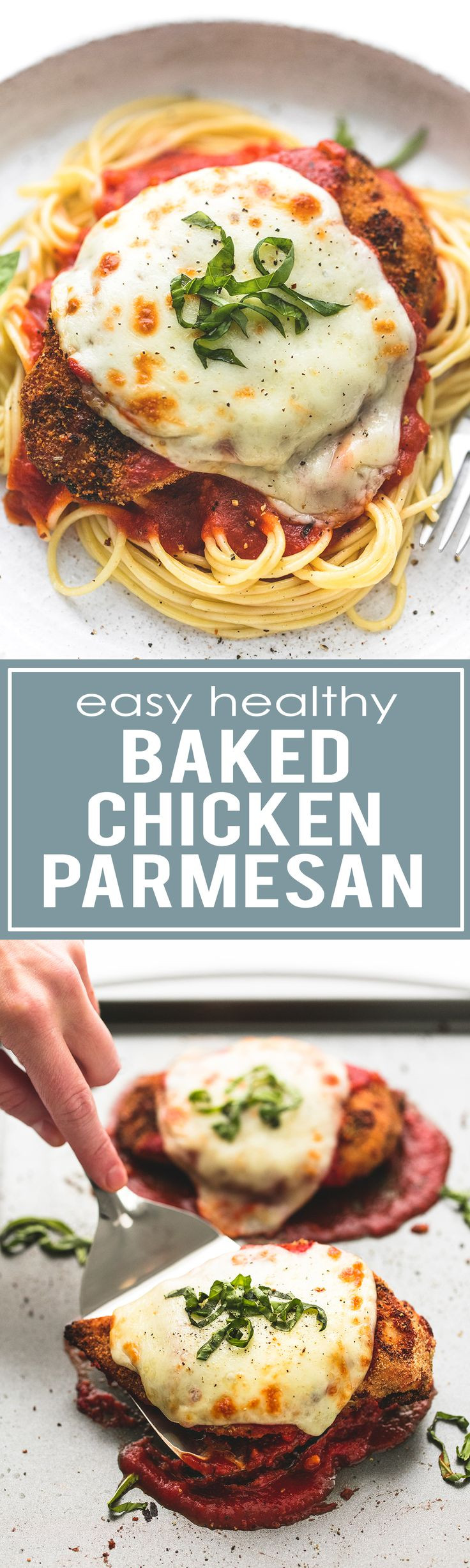 Easy Baked Chicken Parmesan  Easy Healthy Baked Chicken Parmesan