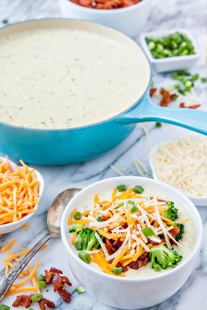 Easy Baked Potato Soup  Easy Loaded Baked Potato Soup Bar