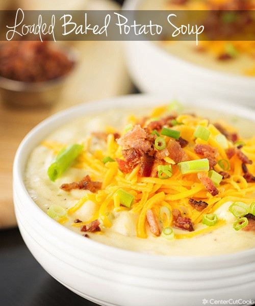 Easy Baked Potato Soup  Ultimate Loaded Baked Potato Soup Recipe