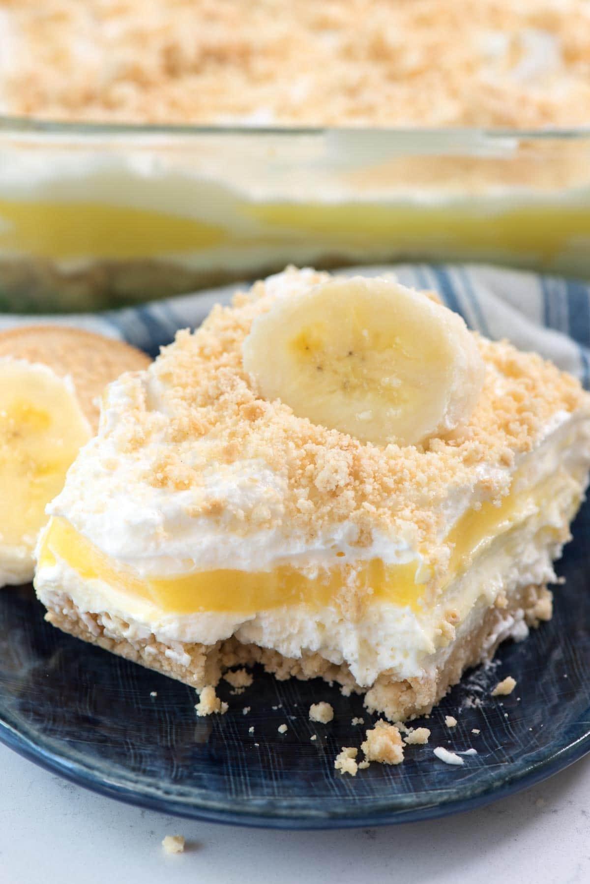 Easy Baking Dessert Recipes  No Bake Banana Pudding Dream Dessert Crazy for Crust