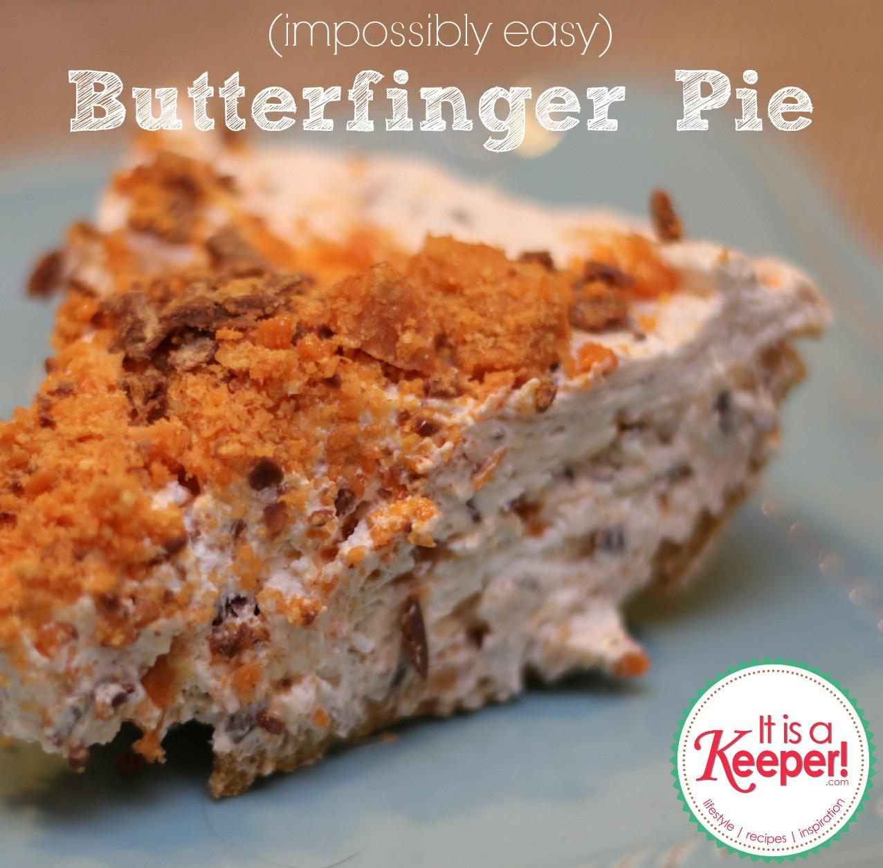 Easy Baking Dessert Recipes  No Bake Butterfinger Pie