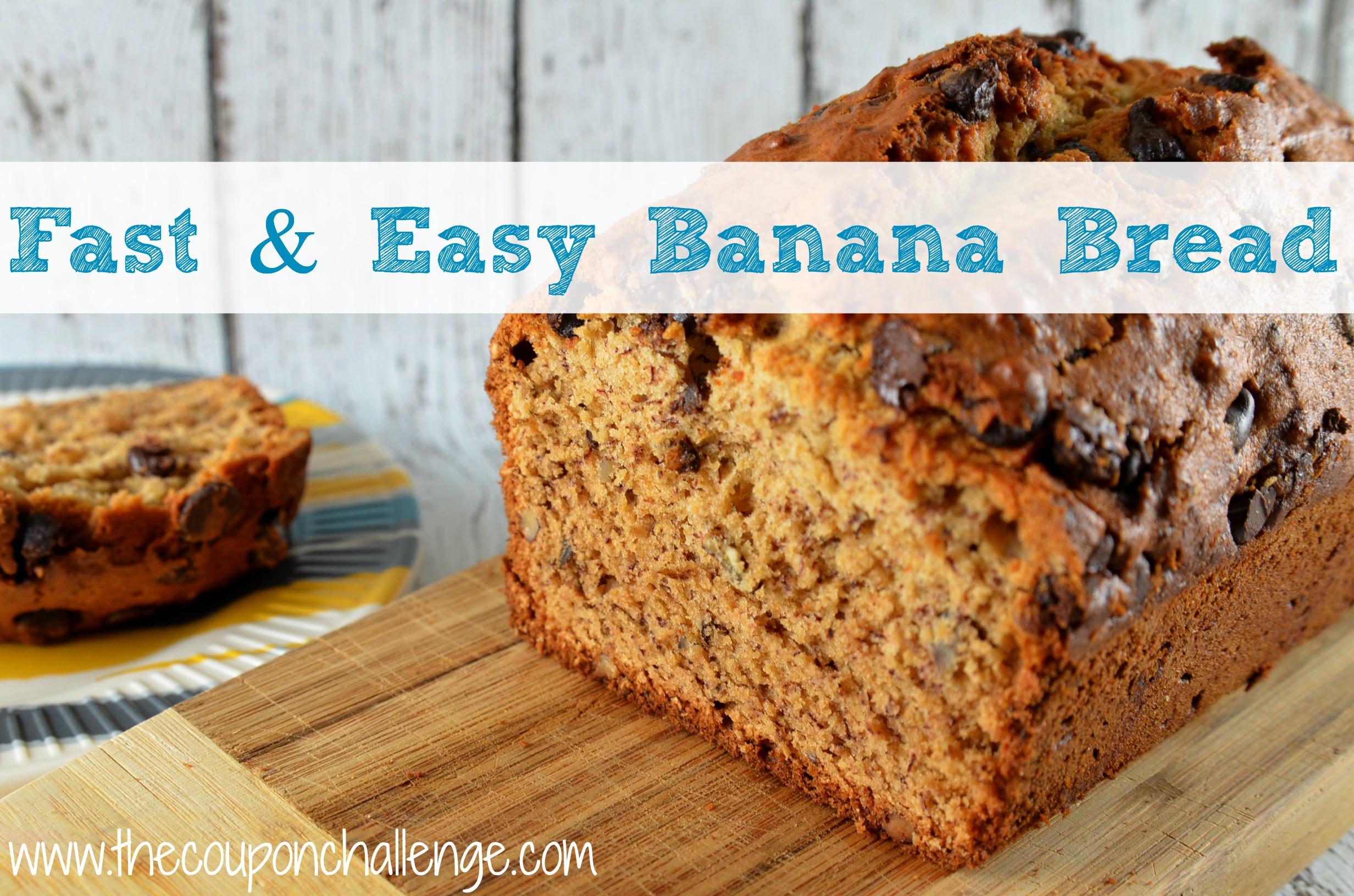 Easy Banana Bread Recipes  Fast and Easy Banana Bread I Quick and Easy Banana Bread