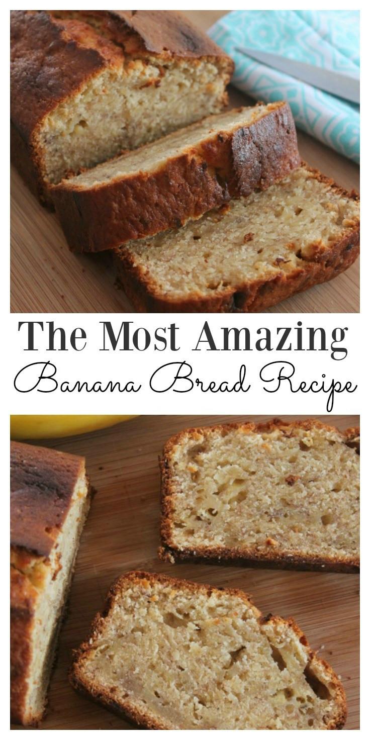 Easy Banana Bread Recipes  The Most Amazing Easy Moist Banana Bread Recipe