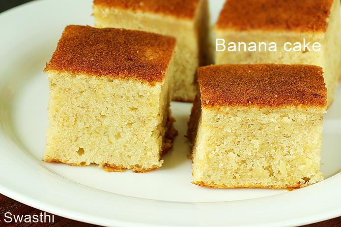 Easy Banana Cake  Banana cake recipe