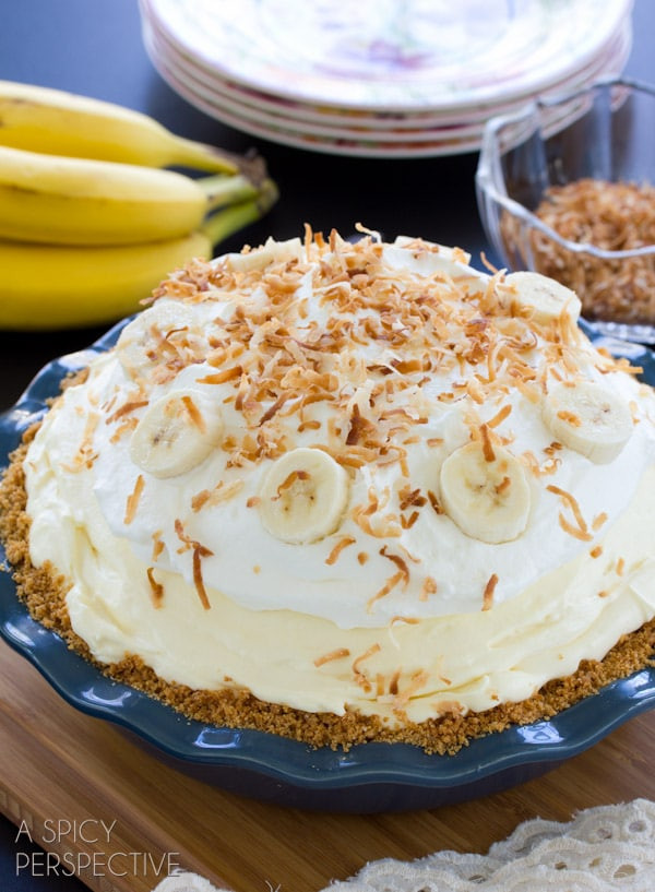 Easy Banana Cream Pie  Banana Cream Pie Recipe A Spicy Perspective