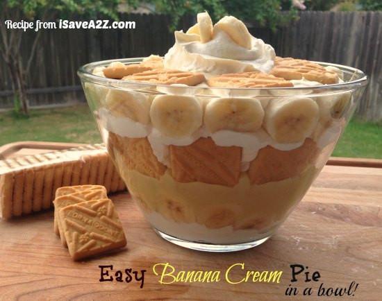 Easy Banana Cream Pie Recipe  Easy Banana Cream Pie Recipe made with Instant Pudding