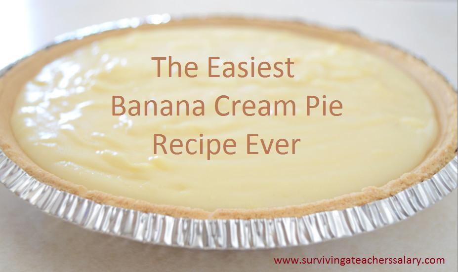 Easy Banana Cream Pie Recipe  The Easiest Southern Banana Cream Pie Recipe Surviving A