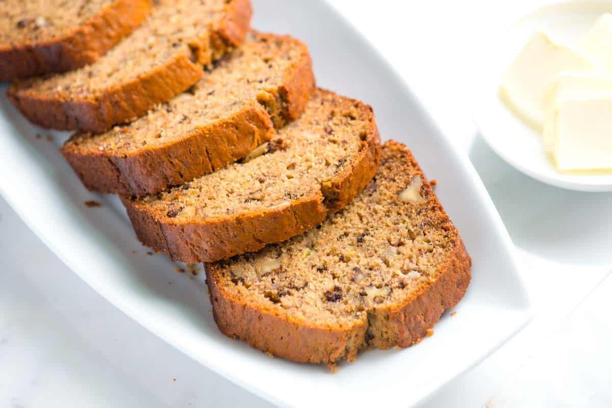 Easy Banana Nut Bread Recipe  Ridiculously Easy Homemade Banana Bread Recipe