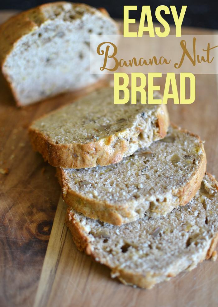 Easy Banana Nut Bread Recipe  Easy Banana Nut Bread Tatertots and Jello