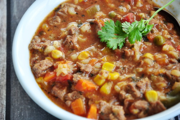 Easy Beef Barley Soup  Beef Barley Soup Recipe Food