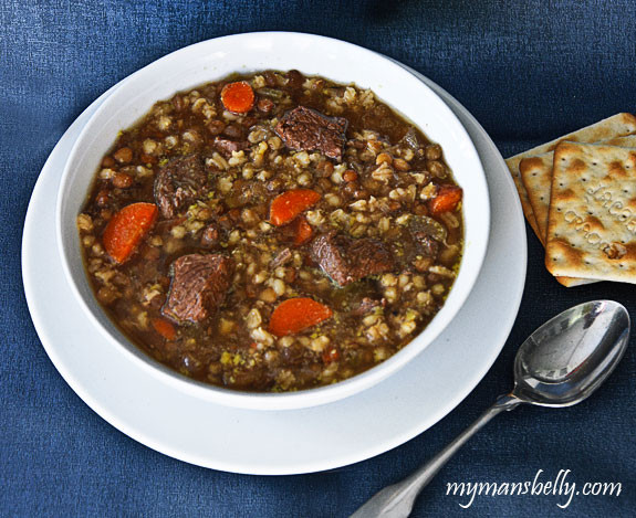 Easy Beef Barley Soup  Ground Beef Barley Soup Recipe Easy