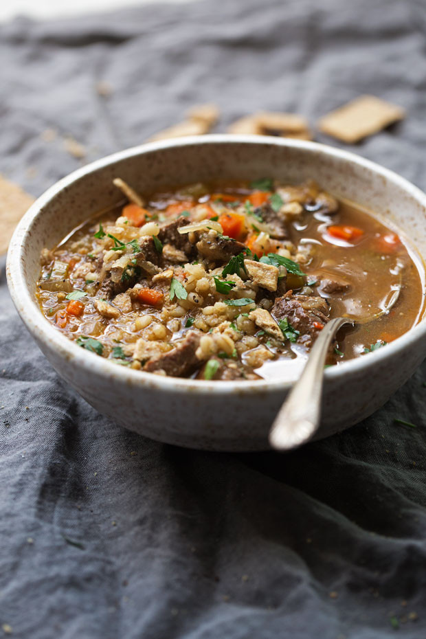 Easy Beef Barley Soup  forting Beef Barley Soup Instant Pot Recipe