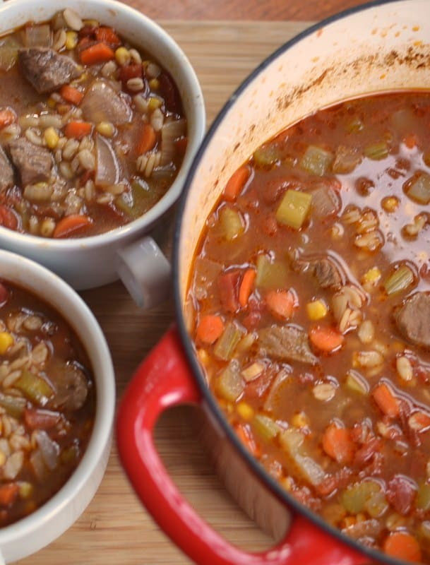 Easy Beef Barley Soup  Easy Beef and Barley Soup