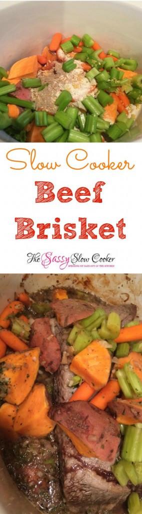 Easy Beef Brisket Slow Cooker Recipe  Slow Cooker Beef Brisket The Sassy Slow Cooker