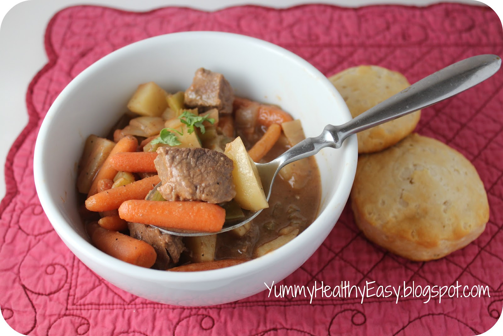 Easy Beef Stew Crock Pot  Easy Crock Pot Beef Stew Yummy Healthy Easy