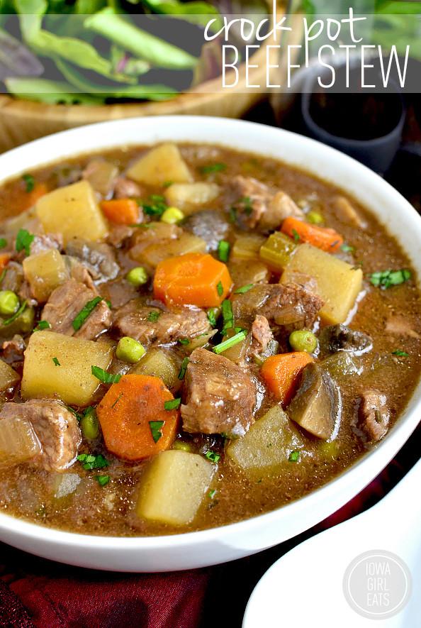 Easy Beef Stew Crock Pot  Crock Pot Beef Stew Iowa Girl Eats