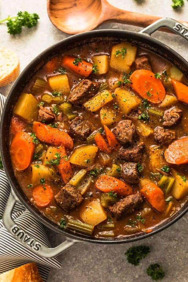 Easy Beef Stew Recipe  Instant Pot Beef Stew Homemade Pressure Cooker