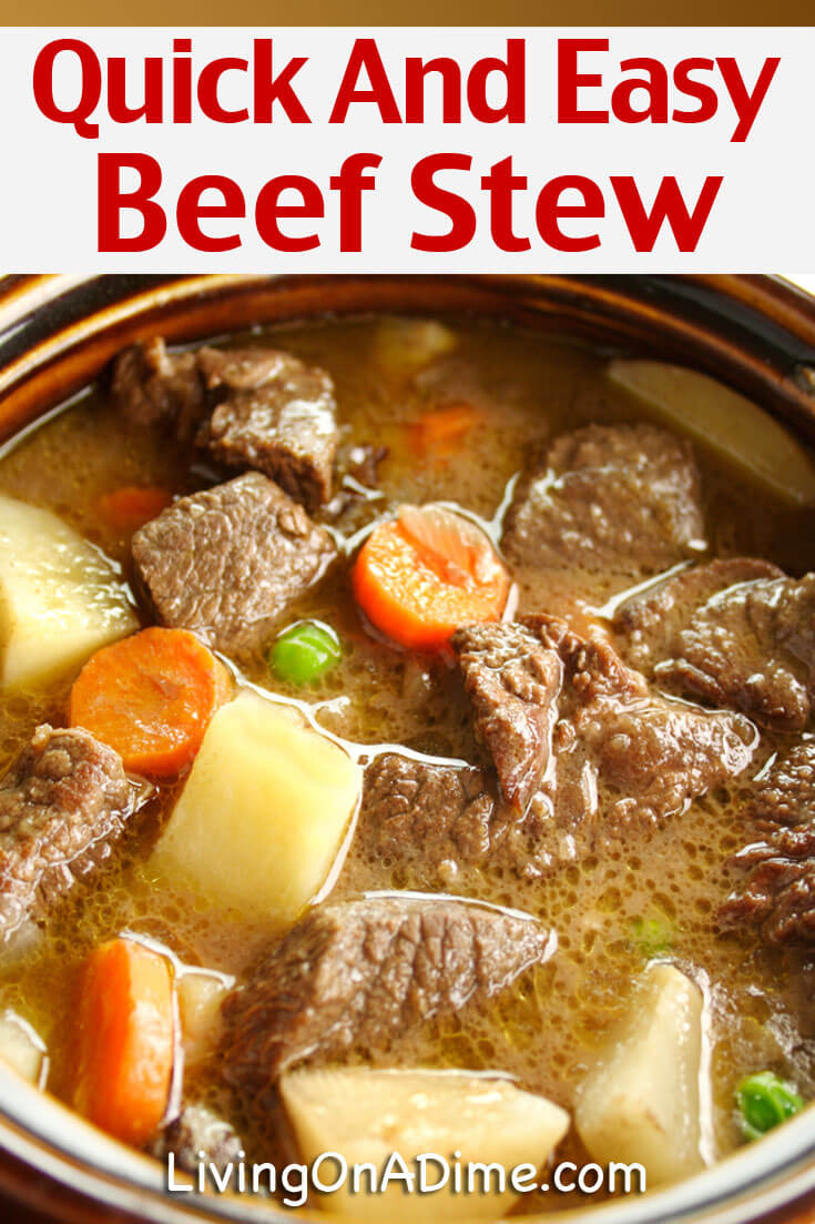 Easy Beef Stew Recipe  Quick And Easy Beef Stew Recipe Mom s Crockpot Beef Stew