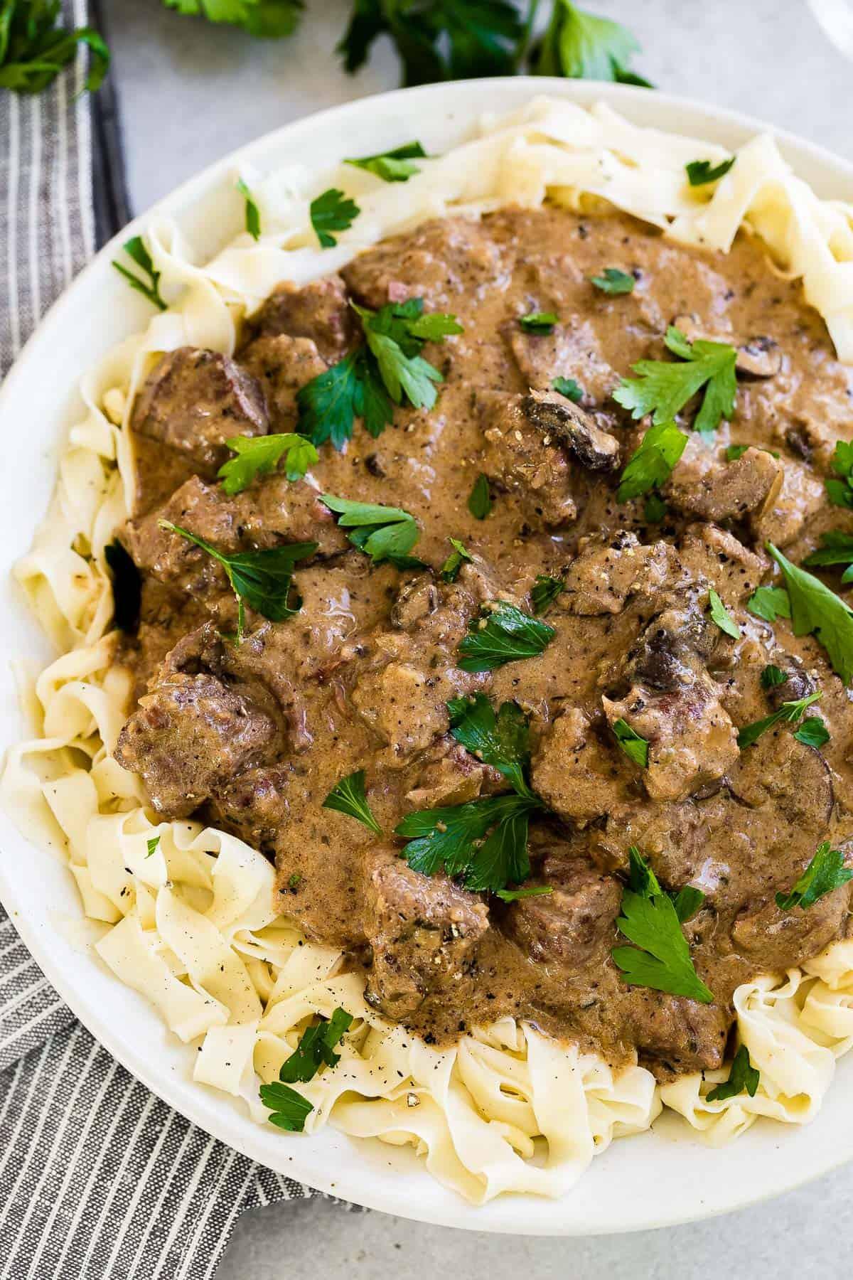 Easy Beef Stroganoff Recipe  Easy Instant Pot Beef Stroganoff Oh Sweet Basil