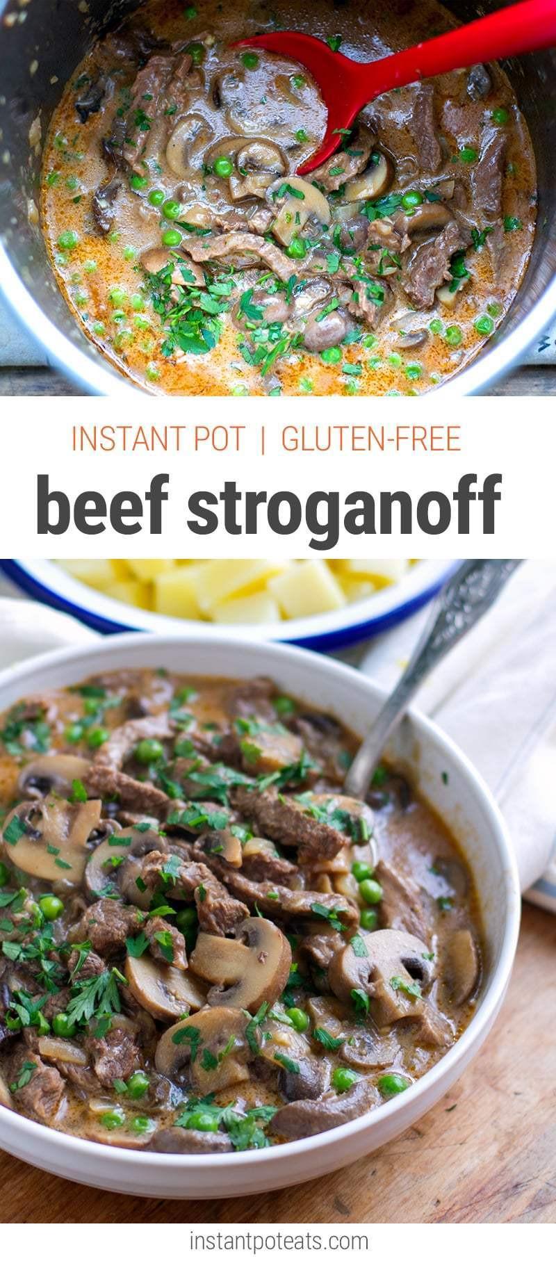 Easy Beef Stroganoff Recipe  Quick & Easy Beef Stroganoff Instant Pot Recipe Gluten