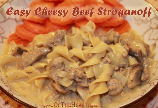 Easy Beef Stroganoff Recipe  Easy Cheesy Beef Stroganoff