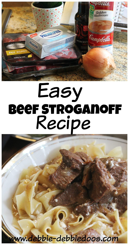 Easy Beef Stroganoff Recipe  Fast and Easy Beef Stroganoff recipe Debbiedoos