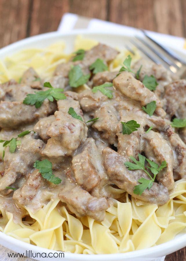 Easy Beef Stroganoff Recipe  Beef Stroganoff recipe