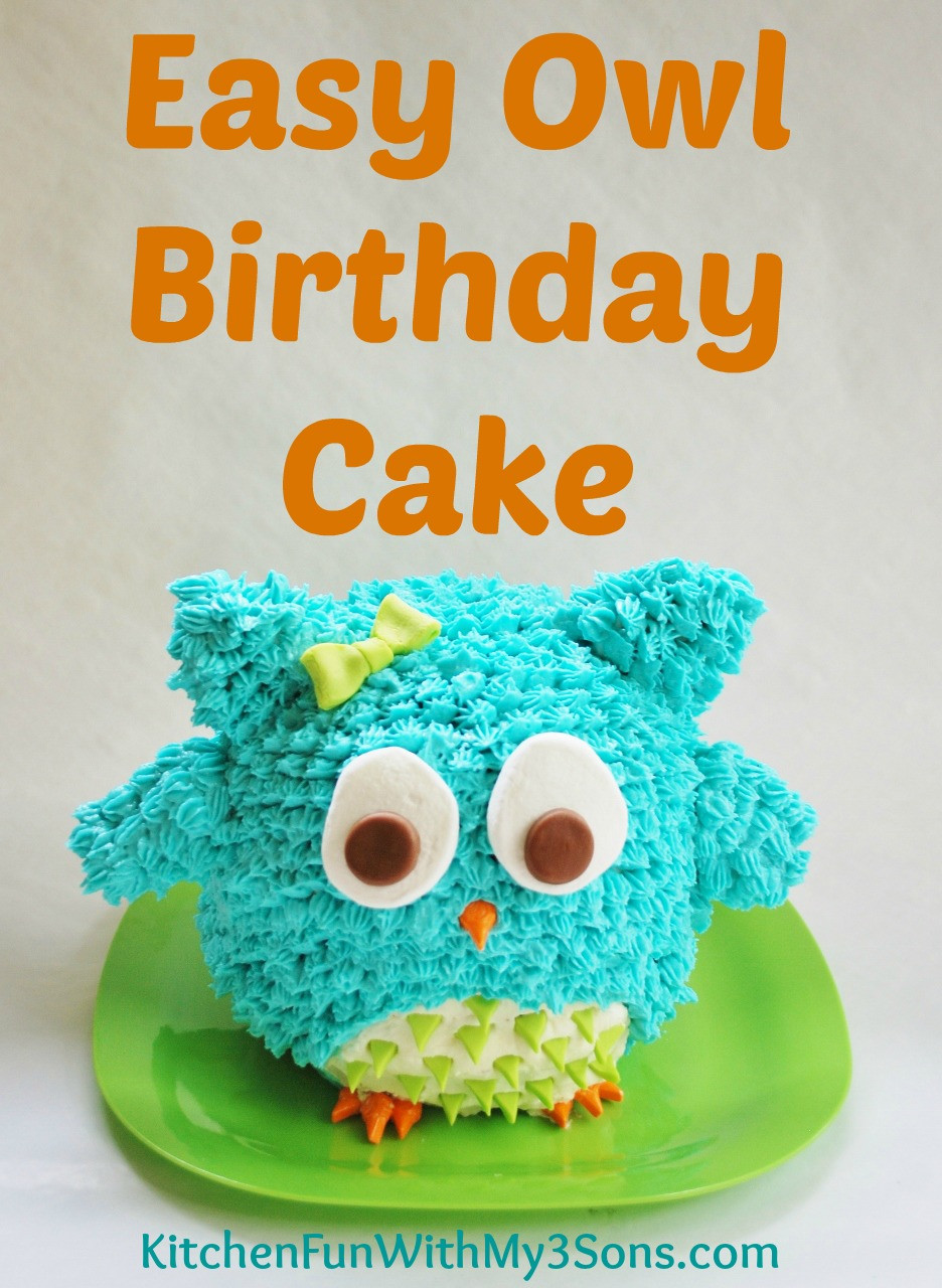 Easy Birthday Cake  Owl Birthday Cake or Smash Cake So Easy