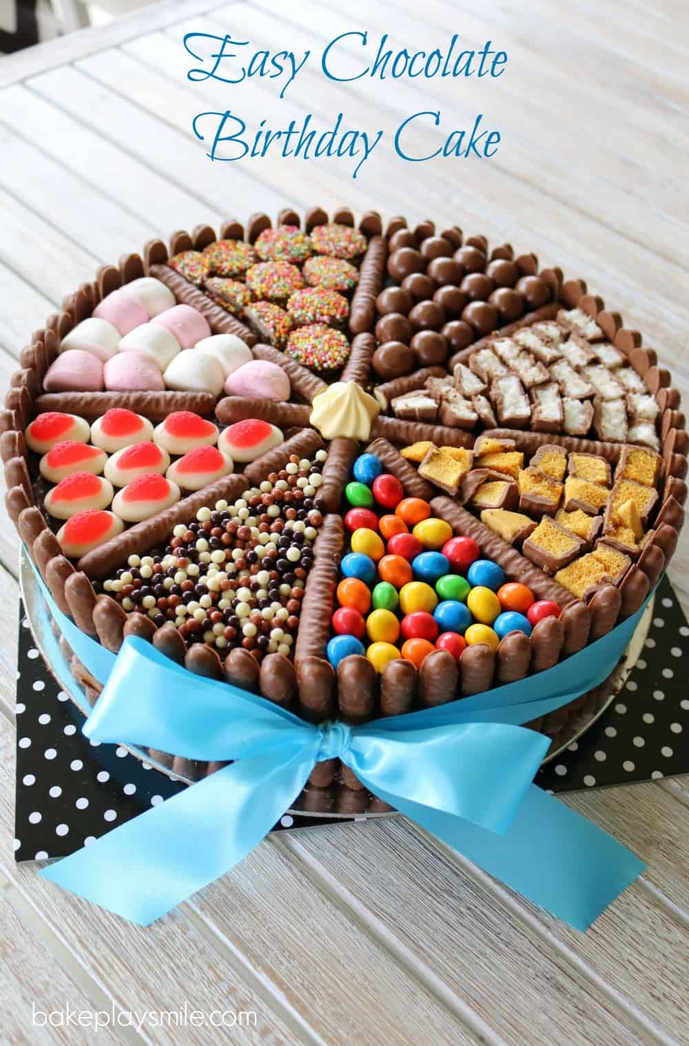 Easy Birthday Cake Recipe  Easy Chocolate Birthday Cake lies chocolates & more