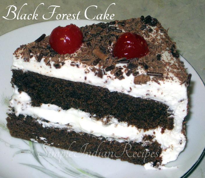 Easy Black Forest Cake Recipe  Homemade German Black Forest Cake