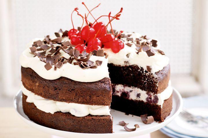 Easy Black Forest Cake Recipe  Black forest cake