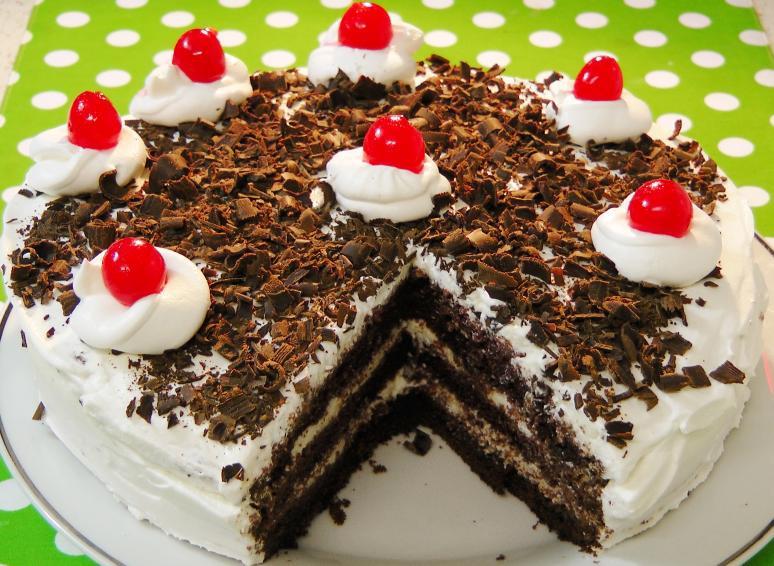 Easy Black Forest Cake Recipe  easy black forest cake recipes